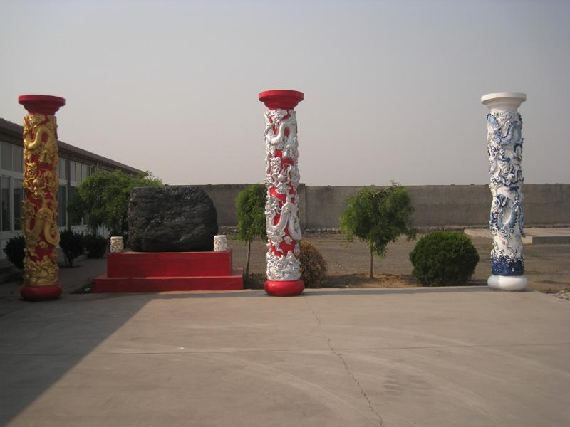 龙柱/供应济南龙柱混凝土龙柱高浮雕龙柱图片