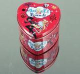 供应心形罐婚庆用品包装铁盒礼品盒