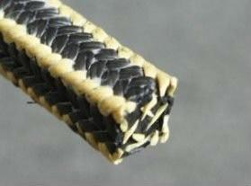 供应内蒙古芳纶角线黑四氟盘根