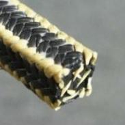 新疆芳纶角线黑四氟盘根图片