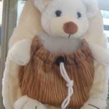 供应毛绒公仔书包新款上市小白熊书包,可爱必备批发