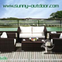 供應休閑戶外家具、編藤雙人沙發、單人沙發、編藤方茶幾圖片