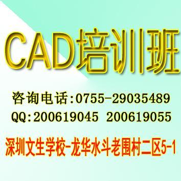 标签: 深圳cad制图培训班还是文生学校