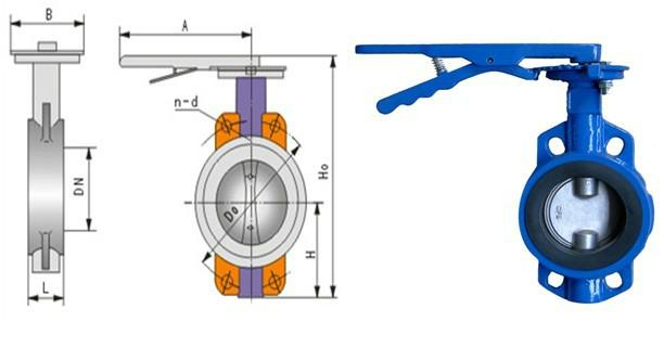 d71x对夹式手柄蝶阀图片图片