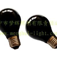 供应A60本料黑普通灯泡透明E27白炽灯