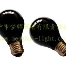 供应A19本料黑普通灯泡透明E27白炽灯