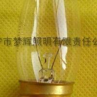 供应C32烛型灯泡透明E27白炽灯泡白炽灯