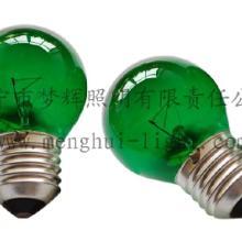 供应G45球型灯泡透明绿E27白炽灯
