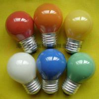 供应G45球型灯泡内凃红色E27白炽灯泡白炽灯