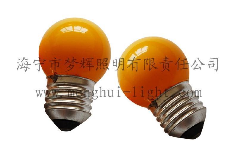 供应G40球型灯泡内凃黄色E27灯泡照明