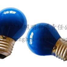供应G45球型灯泡内凃蓝E27白炽灯
