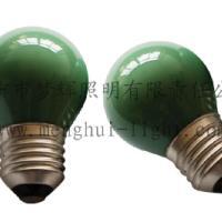供应G45球型灯泡内凃绿E27白炽灯