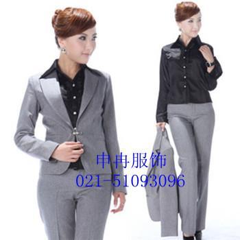 上海订做女士正装西服套装/修身女西装生产供应商:/