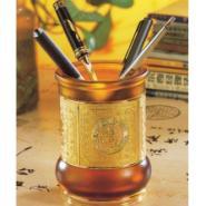 合肥水晶笔筒琉璃笔筒铁网笔筒图片