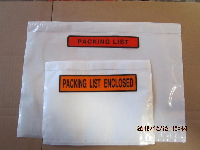 供应物流用的装箱单袋背胶袋运单袋