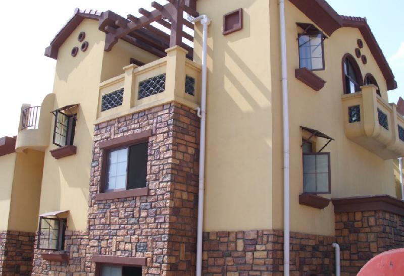 木纹装饰板等别墅外墙   湖南长沙长沙别墅外墙壁砂漆生产高清图片