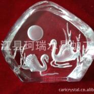 水晶压型工艺品天鹅图片