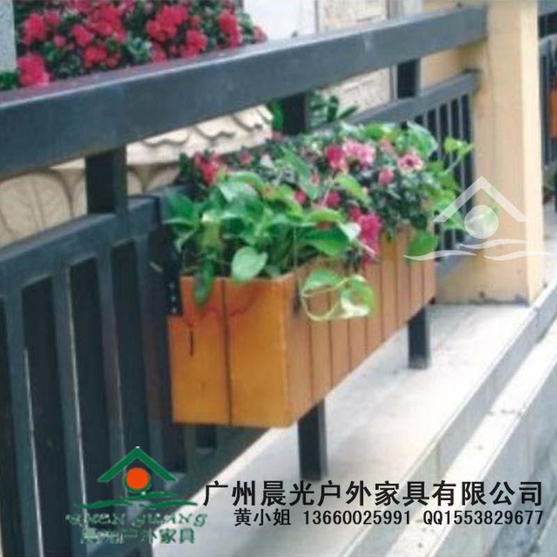 供应挂式花箱/木质花箱/防腐木花箱