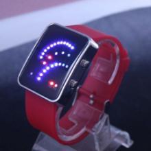 (厂家供应)电子手表批发供应新款扇形LED电子手表硅胶手表电子表批发