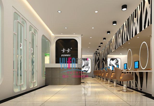 发廊门头效果图图片大全 一个理发店的门头设计,业主是图片