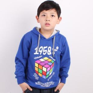 品牌童批发网儿童带帽薄款卫衣图片