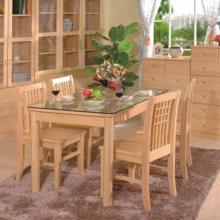 供应松木餐椅/玻璃餐桌北京专卖