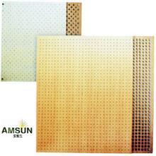 供应木质穿孔吸音板声学工程装饰材料