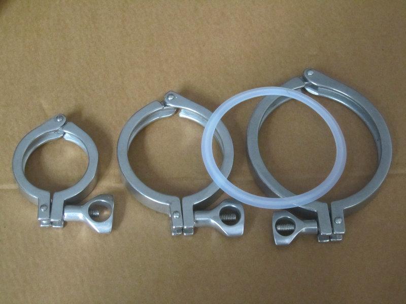 供应快装卡箍、精铸卡箍、卫生级卡箍、不锈钢卡箍