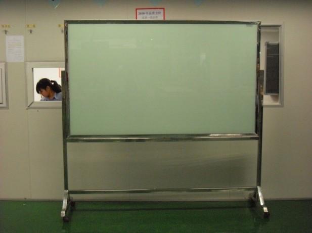不锈钢边框磁性玻璃白板图片