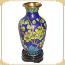 供应景泰蓝花瓶老货4寸桶子梅花珐琅瓶北京特产旅游纪念品商务礼品