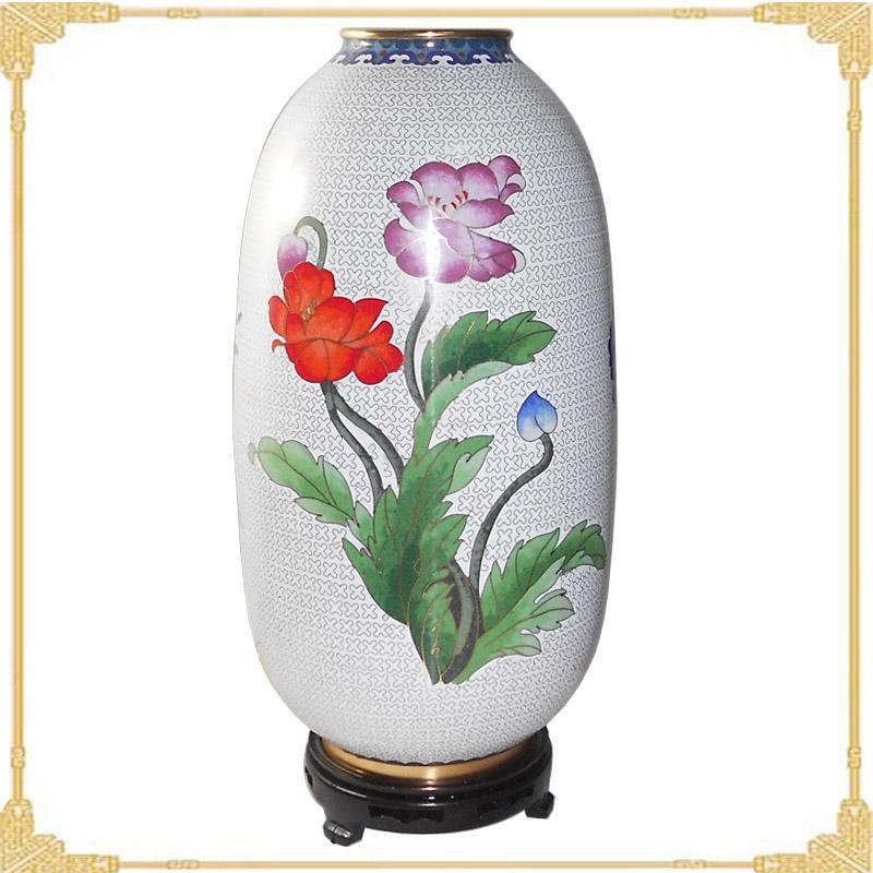 景泰蓝花瓶图片 景泰蓝花瓶样板图 景泰蓝花瓶花好月圆珐琅瓶...