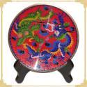 景泰蓝龙凤戏珠珐琅盘子8寸红地图片