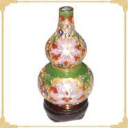 景泰蓝葫芦瓶4寸珐琅金地福禄花瓶图片图片