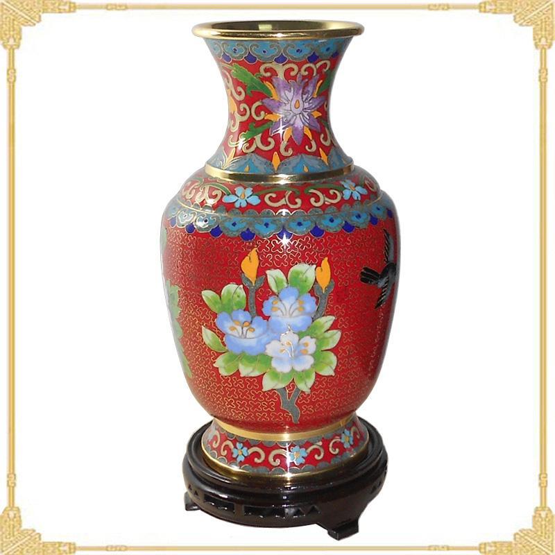 景泰蓝花瓶图片 景泰蓝花瓶样板图 景泰蓝花瓶10寸金龙瓶...