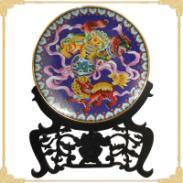 精品掐丝珐琅20寸景泰蓝狮子盘图片