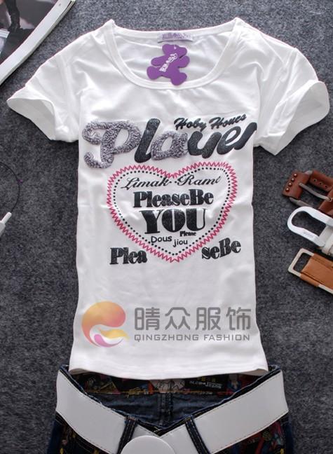 2011年最新情侣装外贸女装t恤批发情侣装t恤女装短
