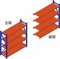 供应徐州中型货架中型层板货架搁板货架