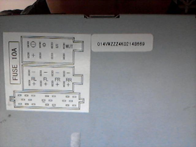 大众汽车cd机接线图-大众cd机尾线接线图 大众cd接线图 大众cd改家用高清图片
