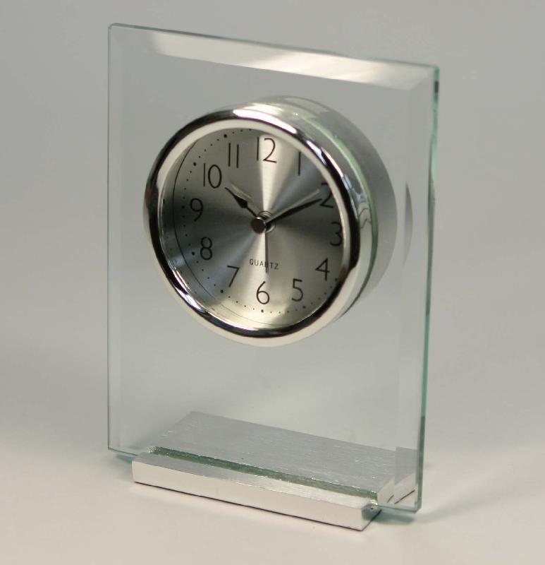 供应AT410酒店玻璃闹钟、金属玻璃石英钟、礼品工艺座钟酒店家居时钟