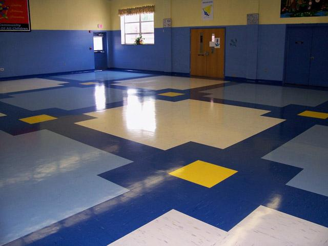 韩华塑胶地板 环保耐用的塑胶地板