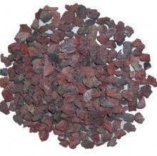 供应哈密高品质火山岩滤料,红黑褐色多孔质轻高效火山岩生物滤料图片