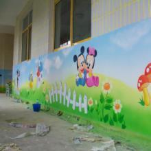 供应云南昆明幼儿园墙体彩绘手绘墙壁画图片