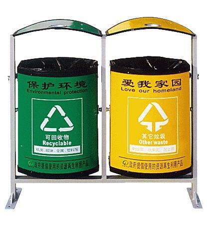 环保分类垃圾桶图片