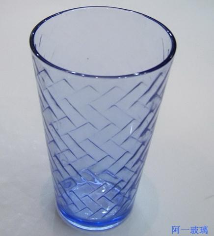 杯图杯样板图蓝料斜杯肇庆阿一玻璃
