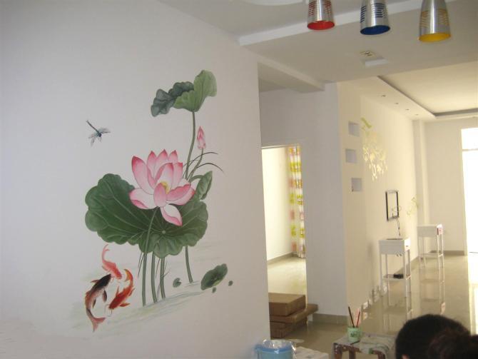 供应昆明手绘墙画制作商电话