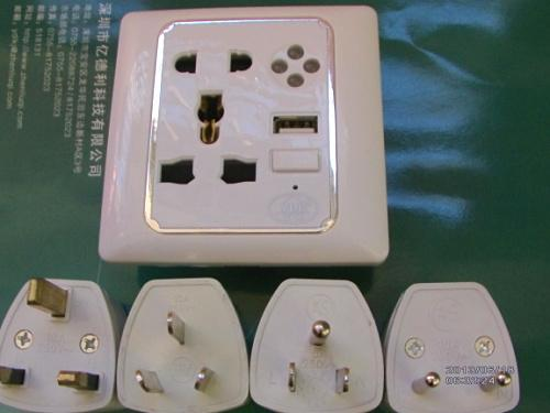 新奇特电子产品USB墙壁插座销售