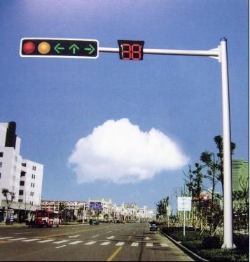 小区监控杆交通标志杆/人行道立柱图片简述:交通杆适用于高清图片