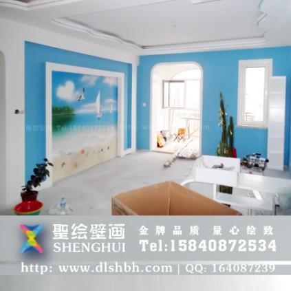 大连家居手绘墙彩绘壁画销售