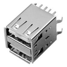 供应双层USB座连接器