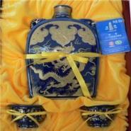 塔牌元代扁壶三十年花雕礼盒图片
